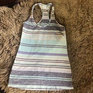 Lululemon Aqua Blue/Gray/Purple Cool Tank
